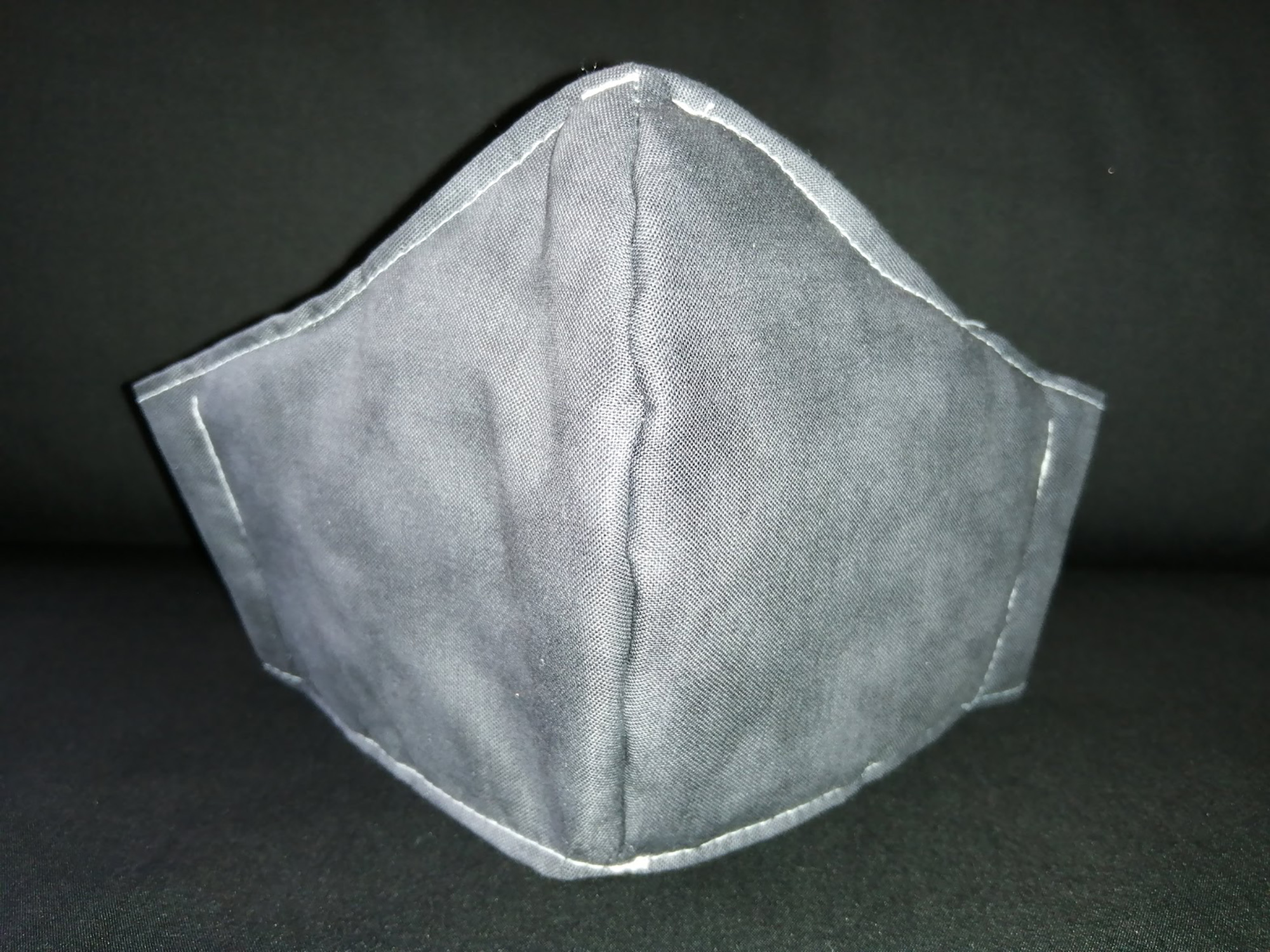 Creative Crafts Face Mask. Stone Grey Fabric