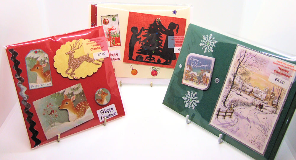 Three handmade Christmas cards - set 5