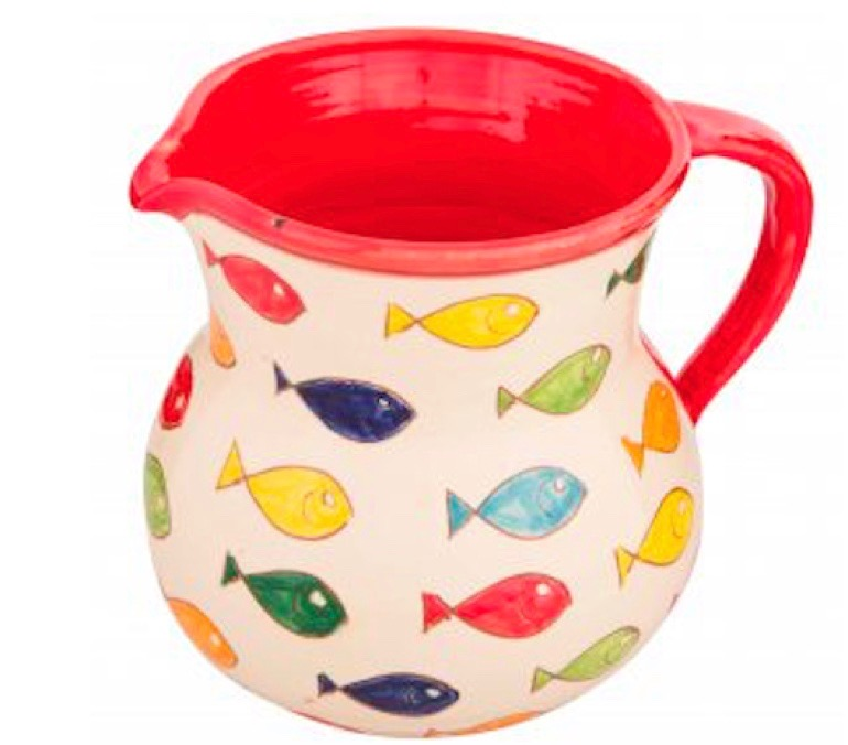 Small jug from the Coloured Fish Range of Spanish Ceramics