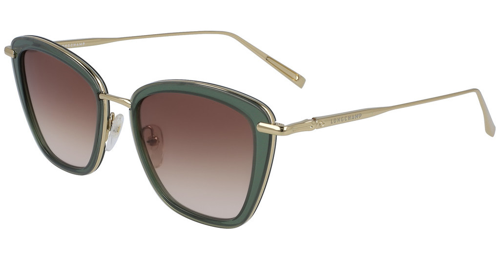 Longchamp LO638S 3050 Green and Gold