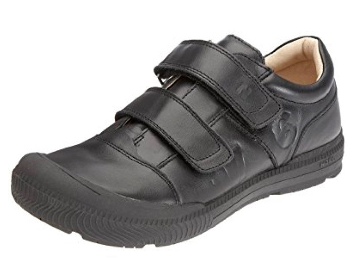 Black trainers for boys with velcro fastenings