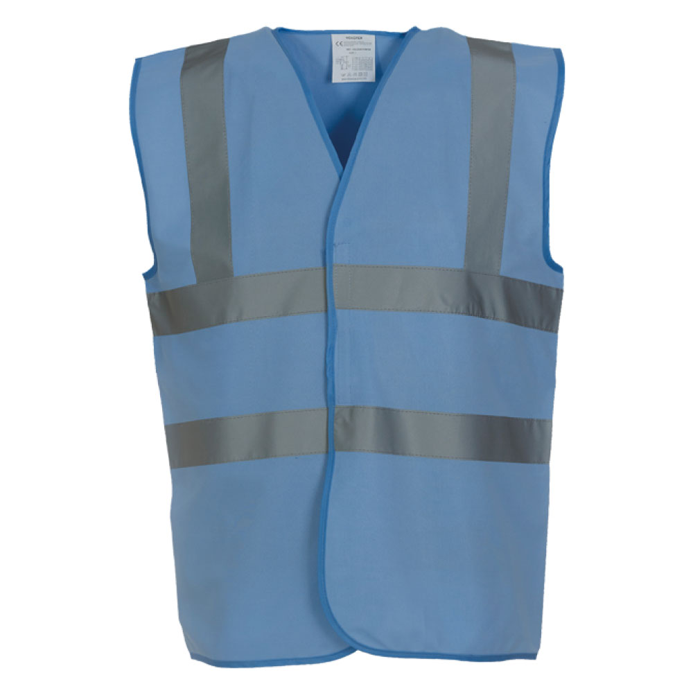Sky Blue Hi Vis Safety Vests