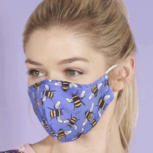 BEE Eco Chic Reusable Face Cover 100% Recyclable Fabric
