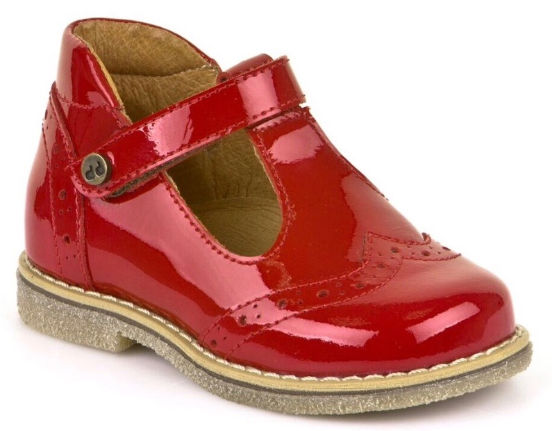 Girls red patent leather high ankle mary jane shoes