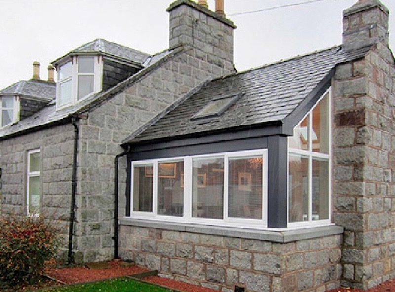 Kerr Cottage award winning extension in Dalbeattie