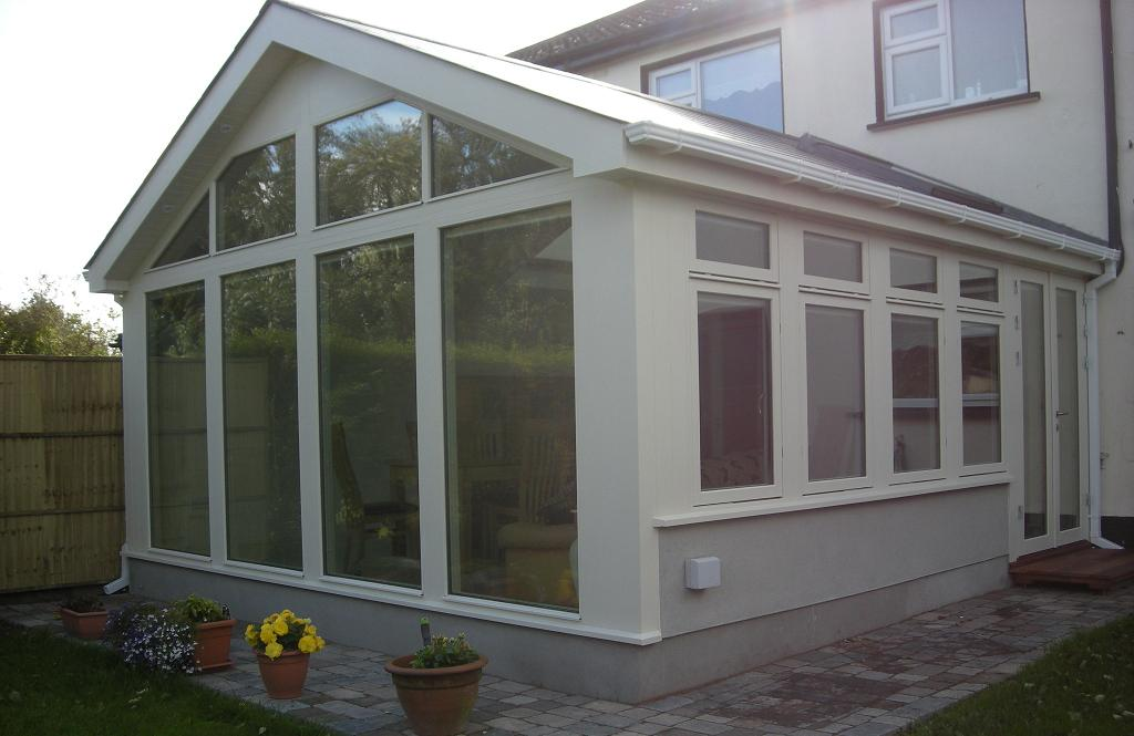 Triple glazed with glass gable