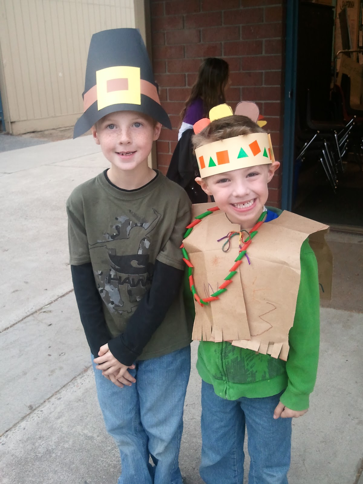 thankful for my pilgrim, my little indian, & mkia....