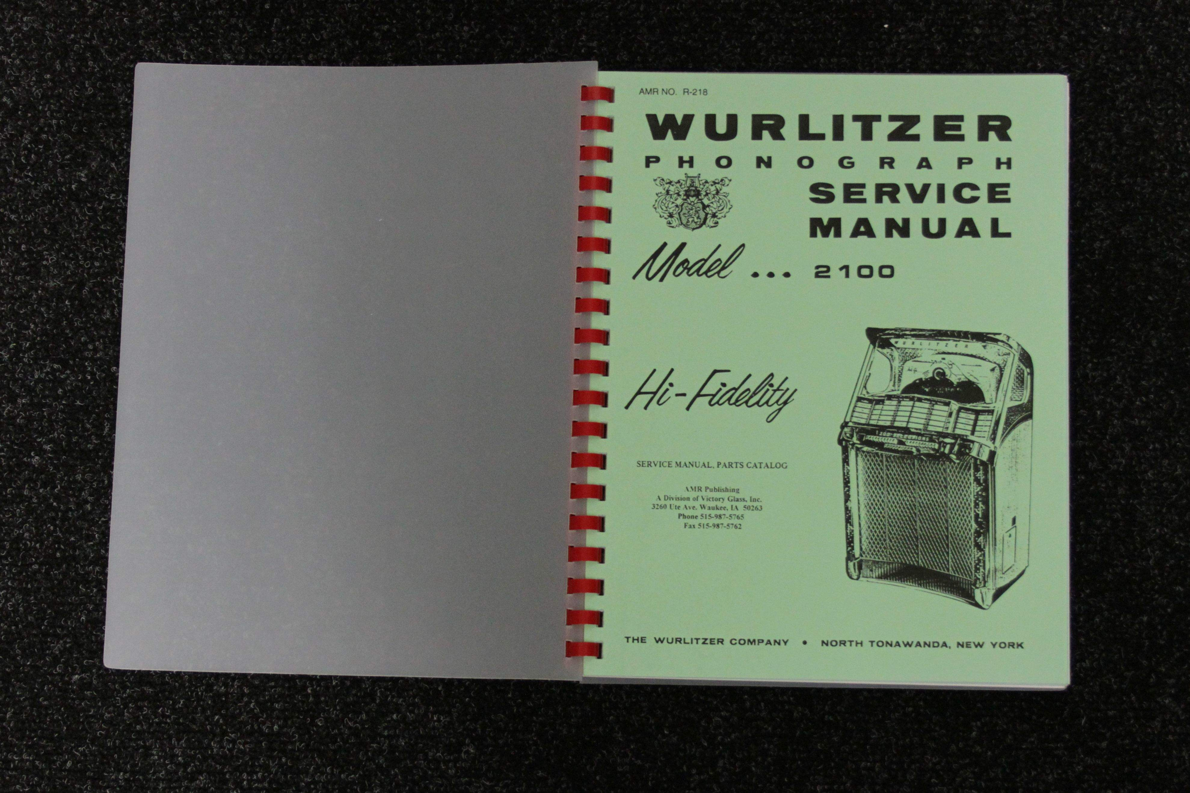 Wurlitzer Service Manual 2100