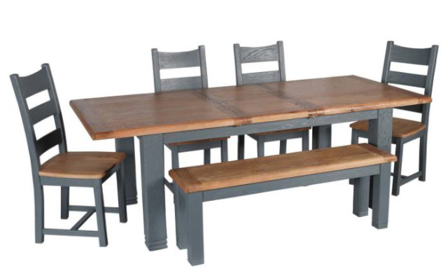 Danube Night Grey Dining Ext Table 18m EUR649 Large Bench 14m EUR329 Chair EUR120