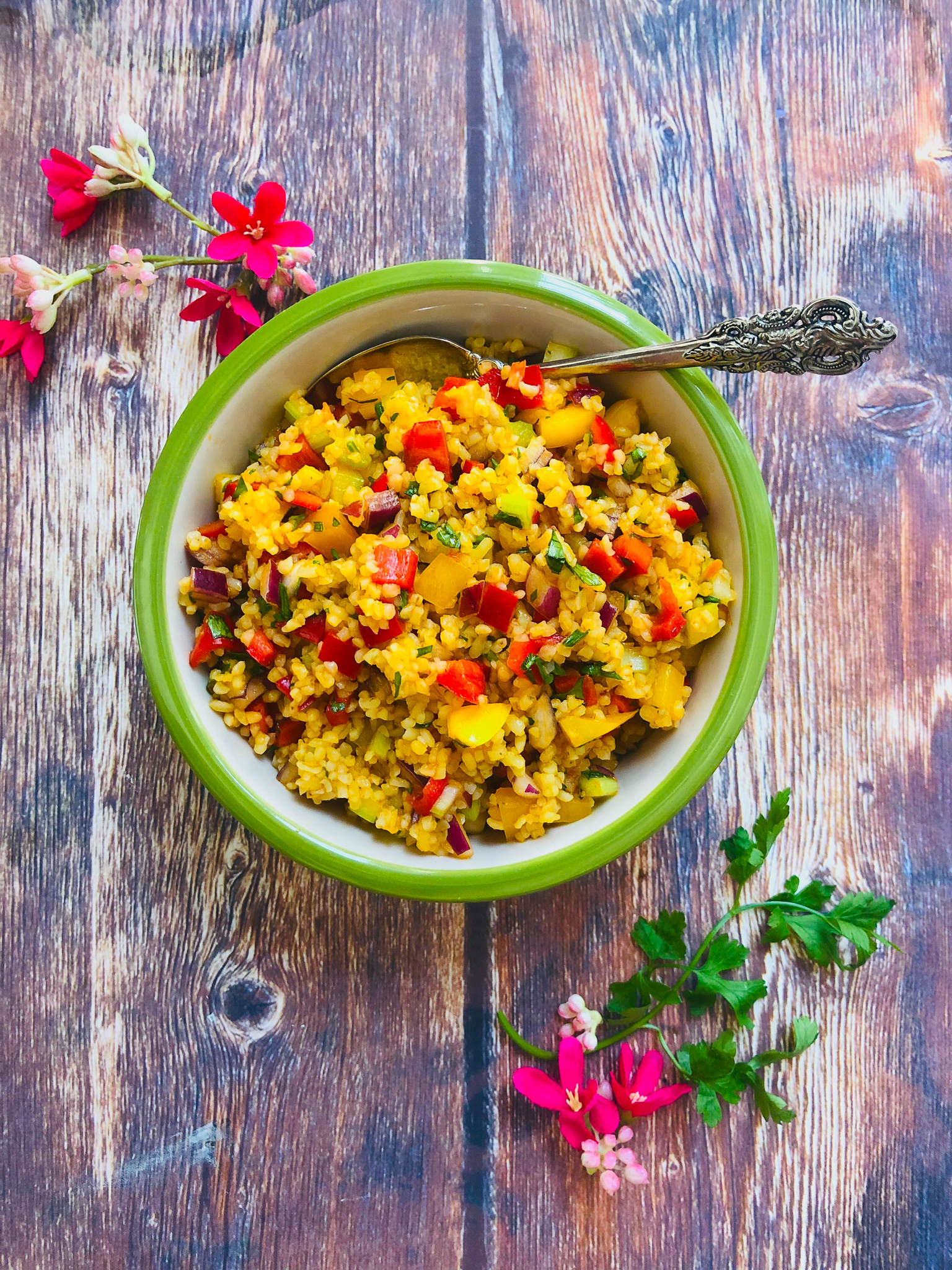 Spicy Bulgur Wheat Salad