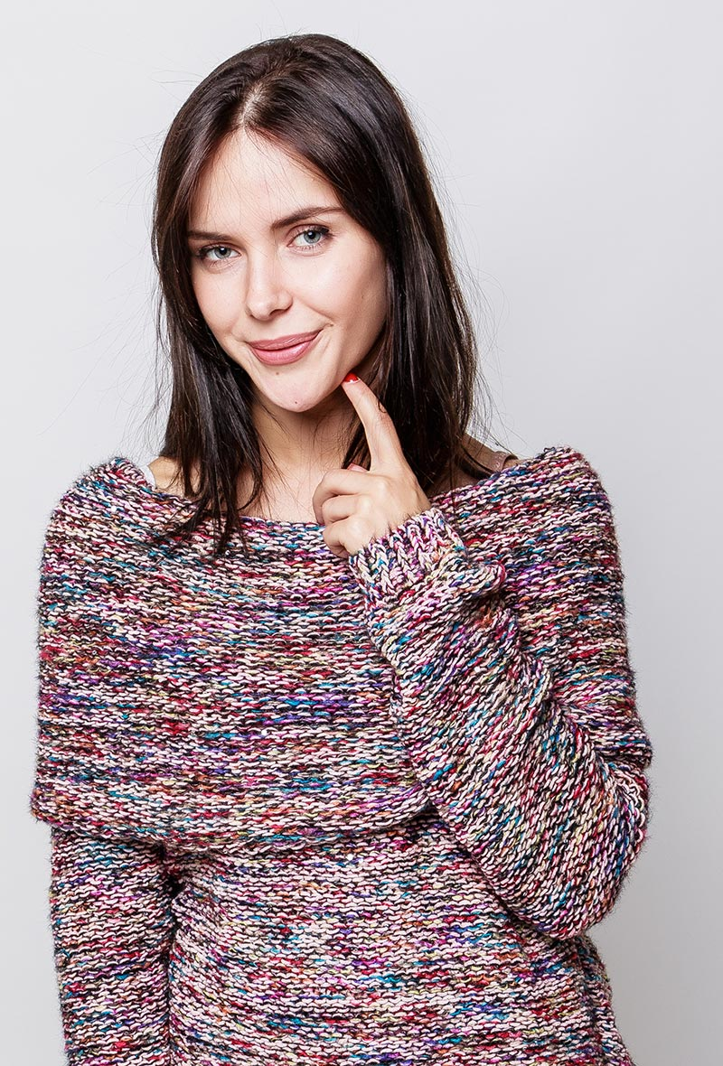 Soft Sparkle sweater pink