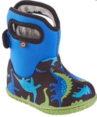 Boys' dinosaur welly boots with pull up latches