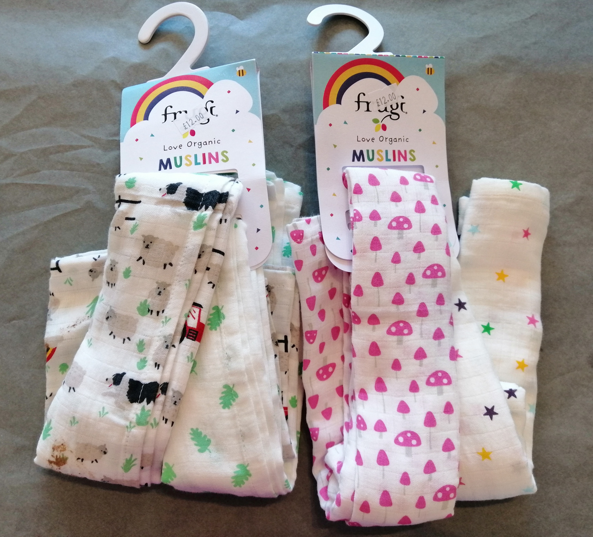 Pack of 2 Frugi Muslins