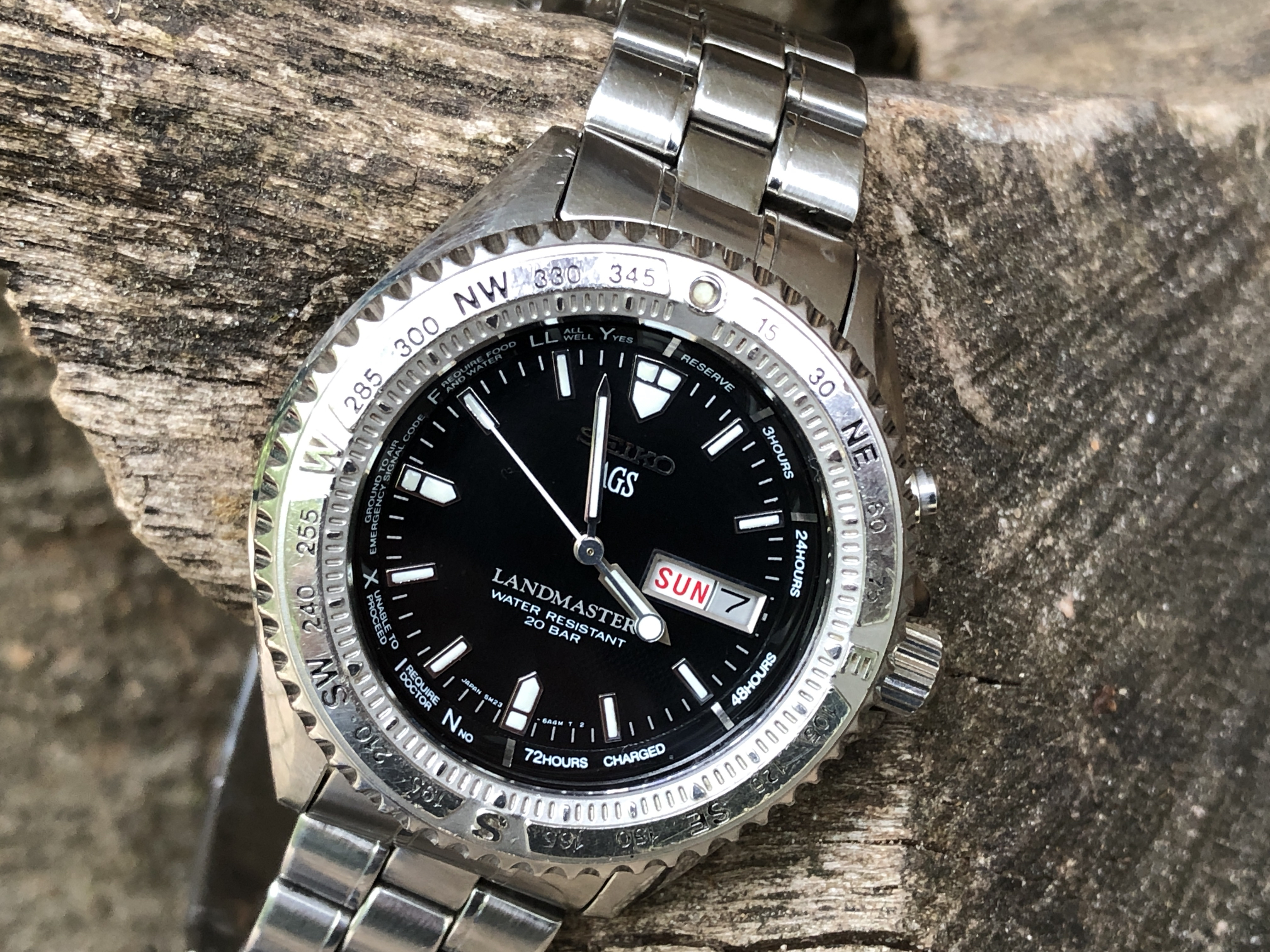 Seiko Landmaster Stainless Steel 5M23-6A20 - SBBW005 (For sale)