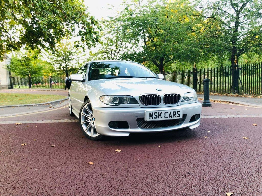 """55"" Plate BMW 330ci M Sport Coupe. Presented in factory Brilliant Silver"