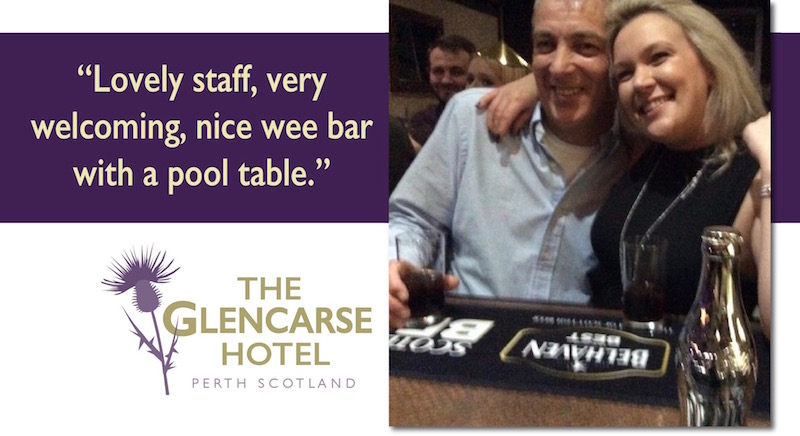 The Bar at The Glencarse Hotel near Perth, Scotland