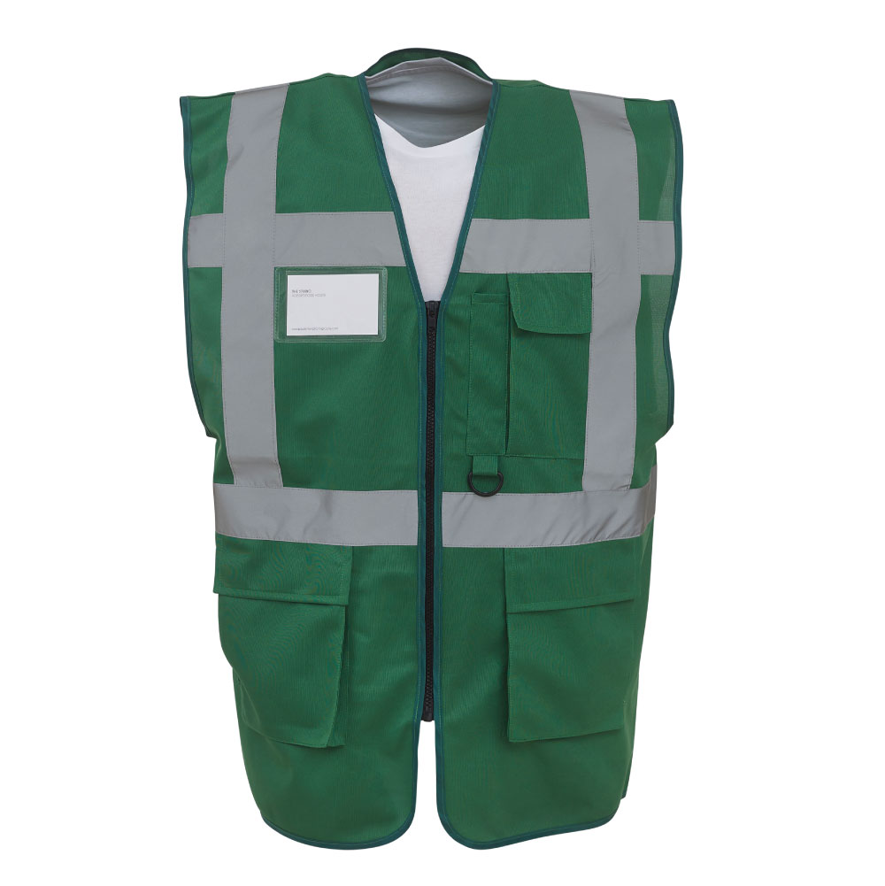 Hi-Vis Paramedic Green Zipped Safety Vest