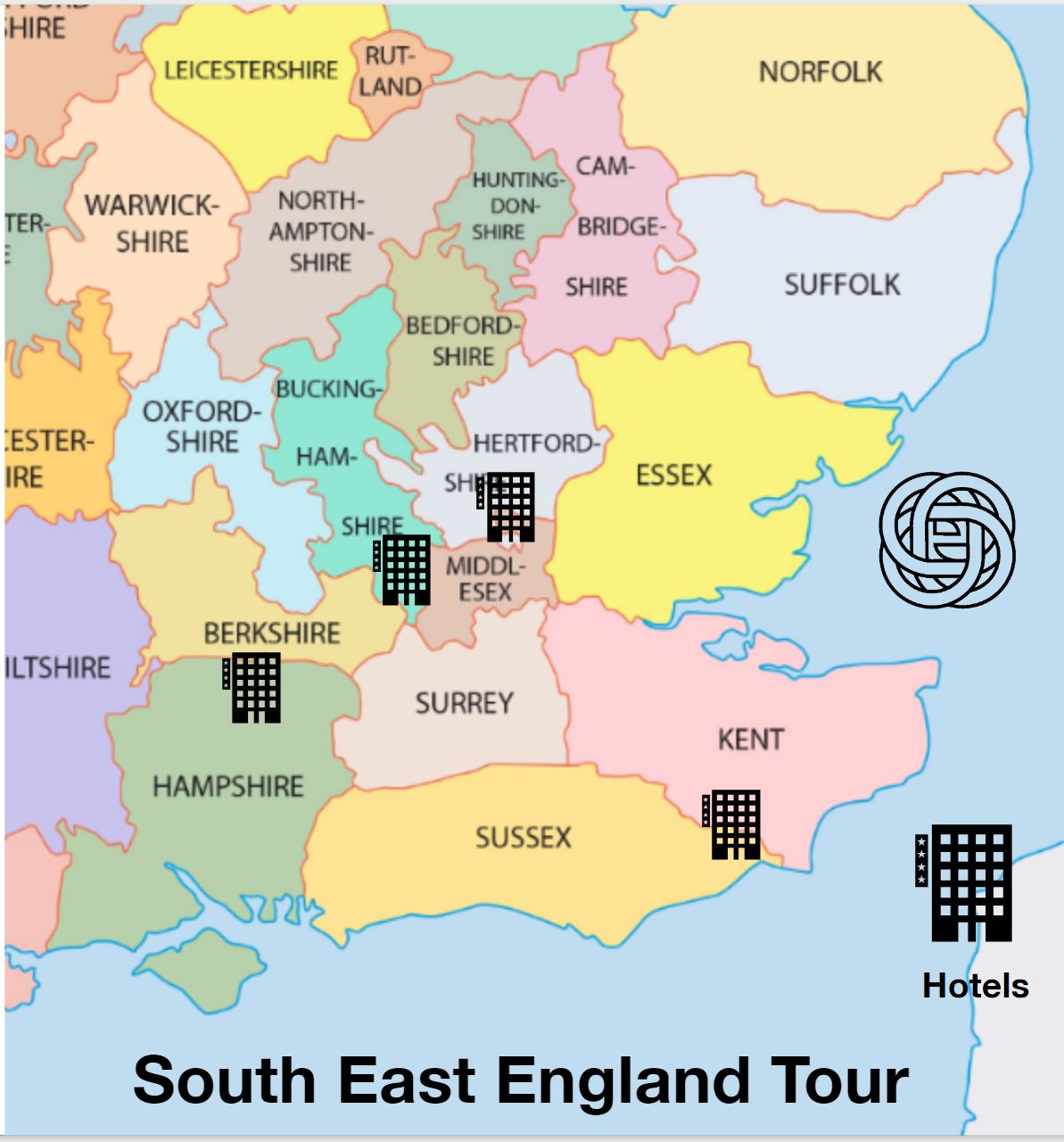 South east of England, Kent, Sussex, Dover, Dover Caste