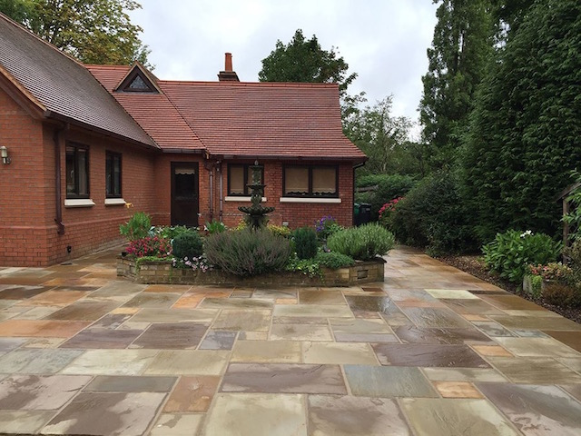 Sandstone patios Virginia Water Surrey