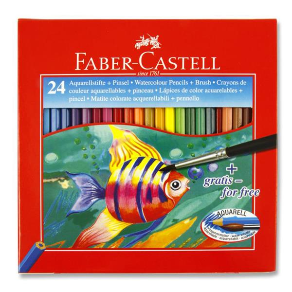 VISUAL ART - Faber Castell Aquarell Box 24 Water Soluble Colour Pencils