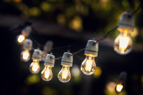 Festoon Lighting outdoors