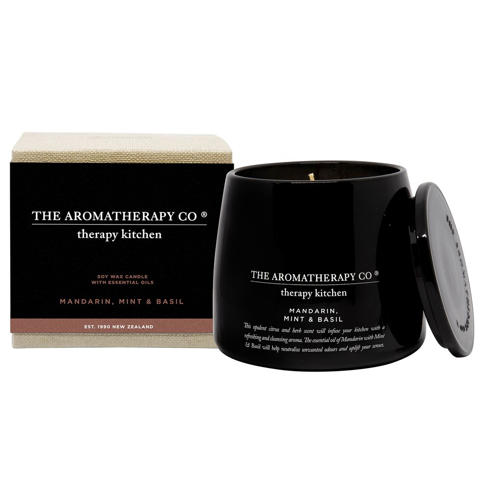 260g Therapy Kitchen Candle - Mandarin, Mint & Basil