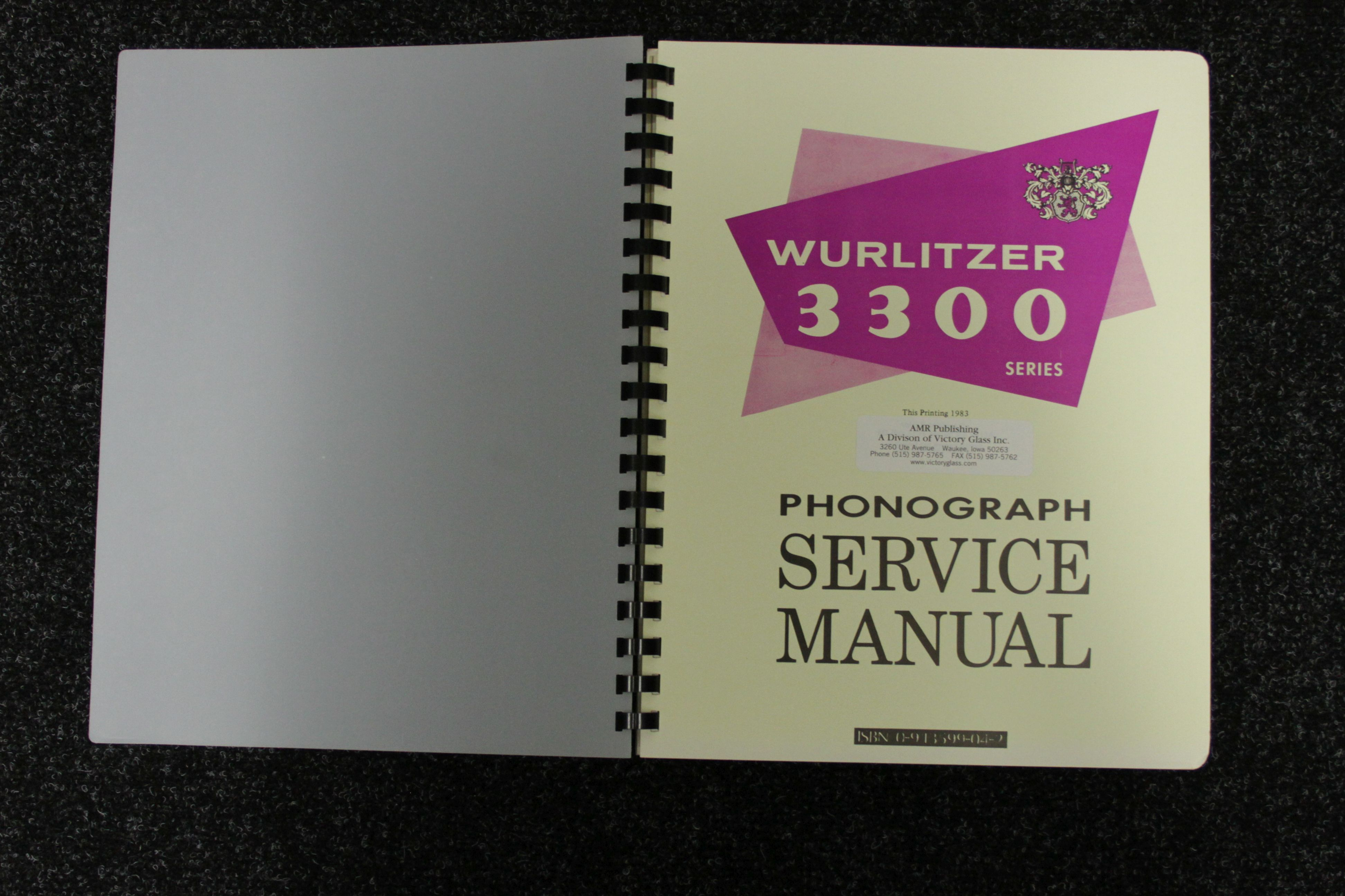 Wurlitzer Service Manual 3300 series