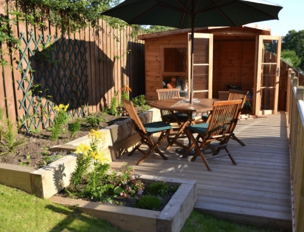 Garden decking Crocketford