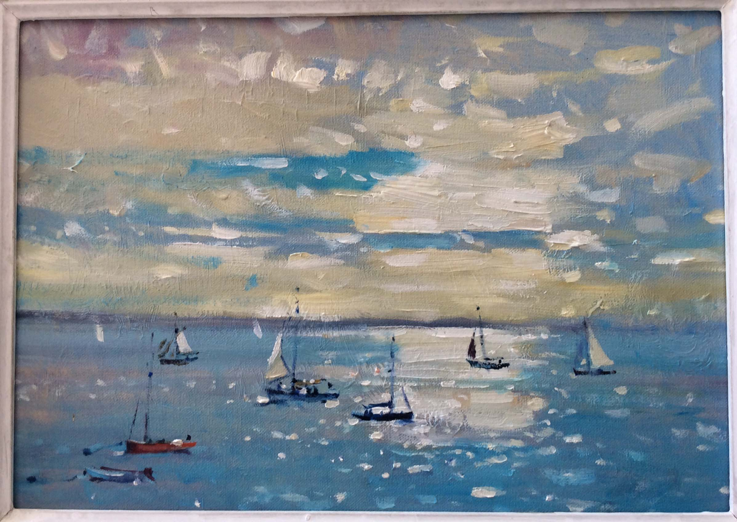 October sunlight off Cowes by Robert King