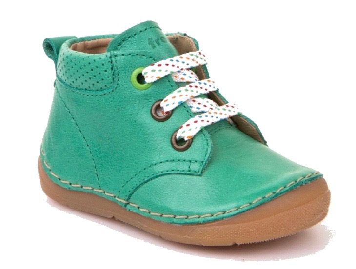 Green leather boots for toddler boys and girls