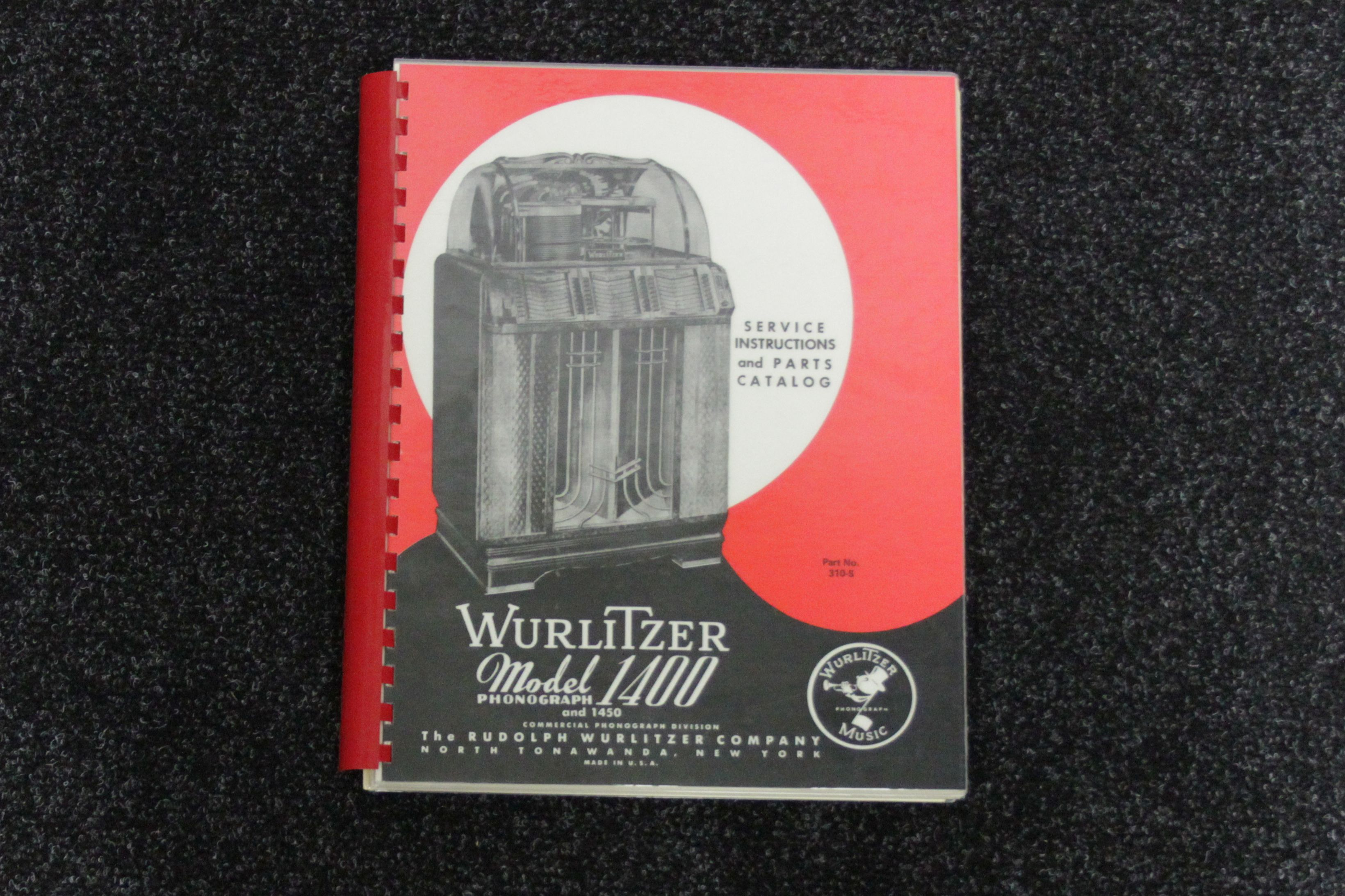 Wurlitzer Service Manual 1400