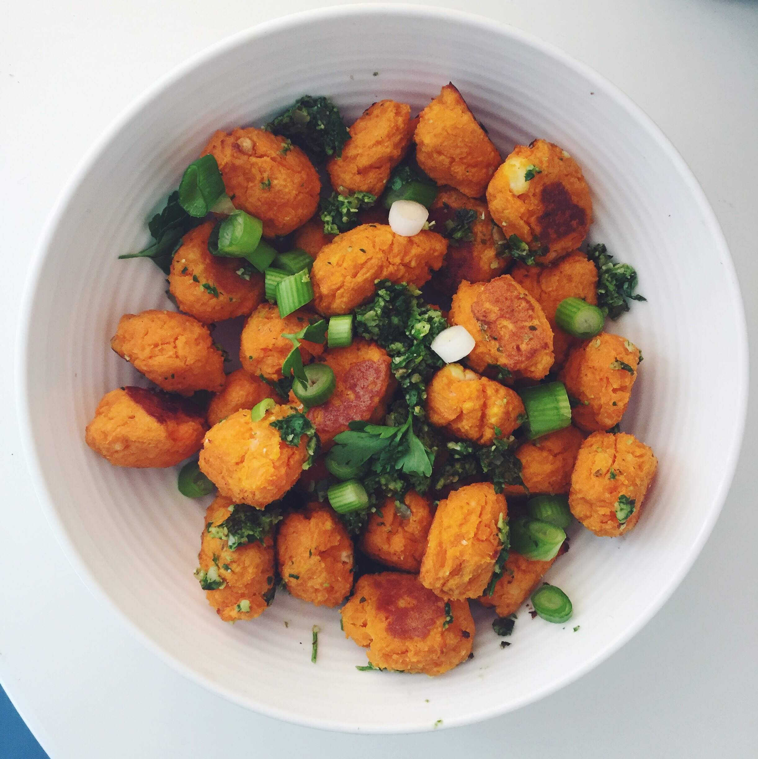 Sweet Potato Gnocchi with Pumpkin seed Pesto