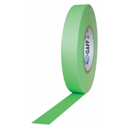 PRO GAFF® - FL GREEN Fluorescent Gaffer Tape - 1 inch x 25 yards (24mm x 22.8m)