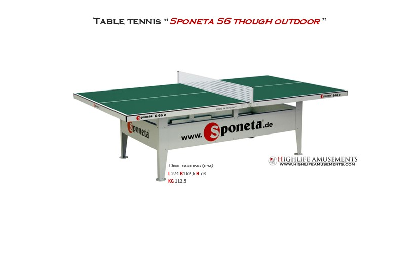 "Table Tennis ""Sponeta S6-66 Outdoor"""