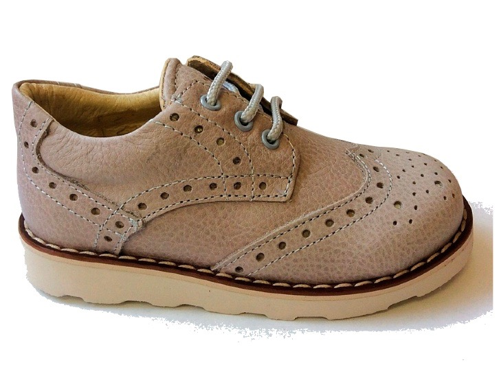 Classic beige baby brogues