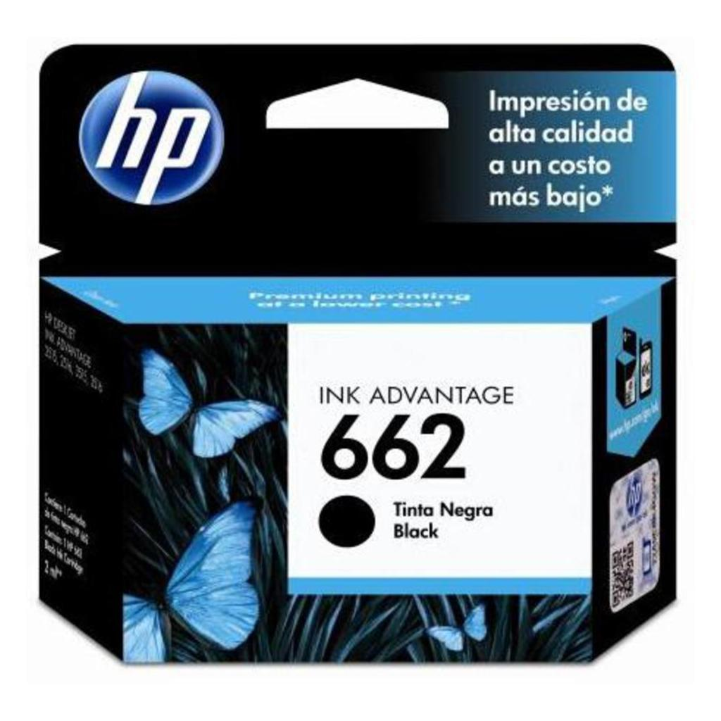 CARTUCHO  HP  662 NEGRO, ESTANDAR