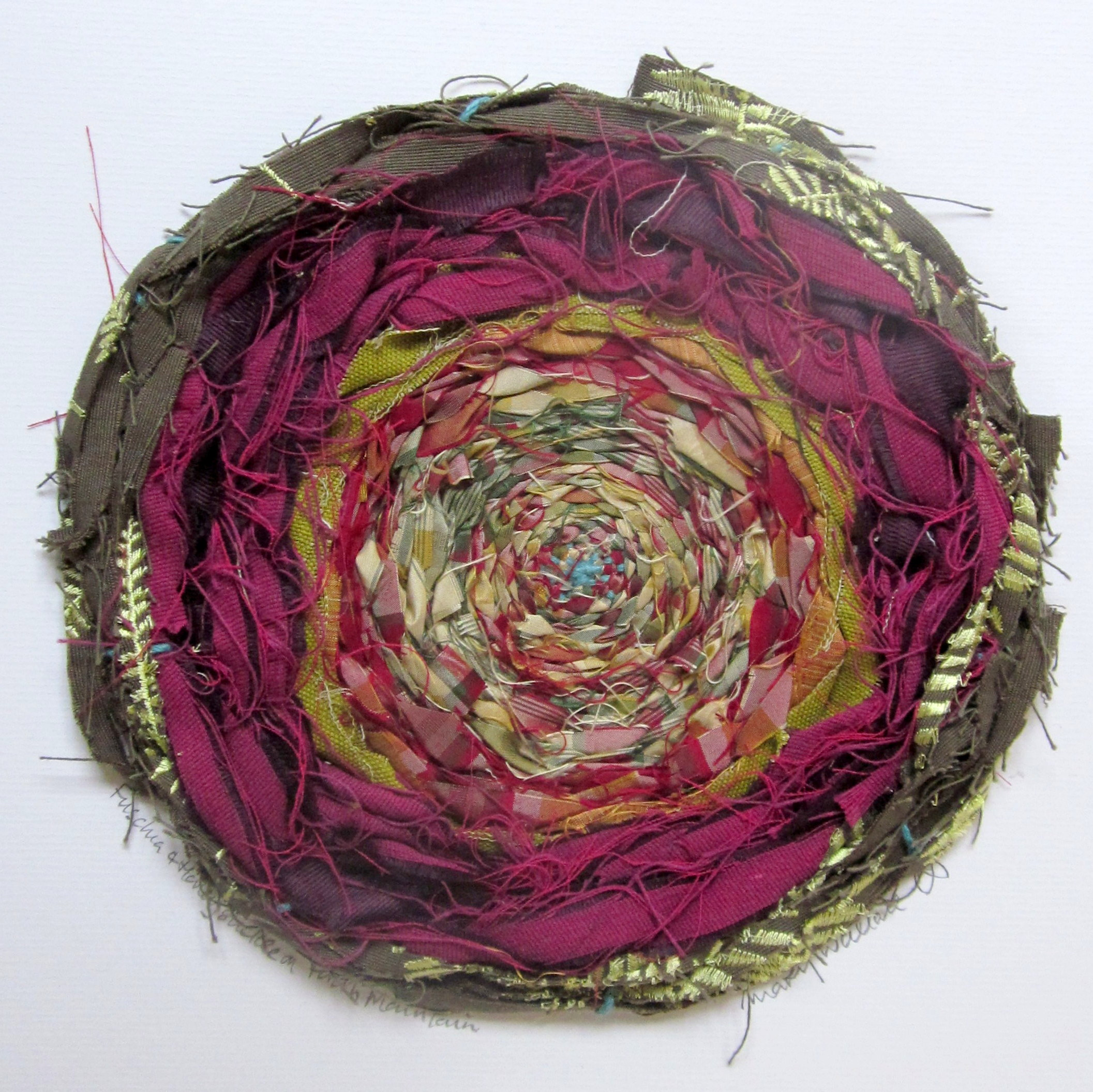 Textile art, weaving, vibrant, abstract and contemporary
