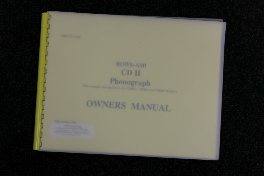 Rowe AMI - Owners Manual - CD II