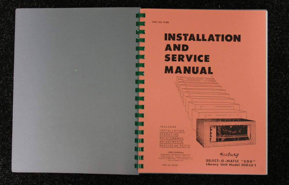 Seeburg - Installation & Service Manual - Model 200, 200LU1