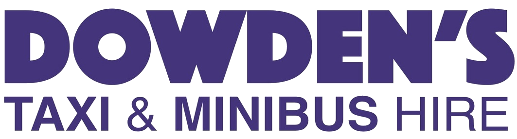 The Dowden's taxi & minibus hire logo in dark blue