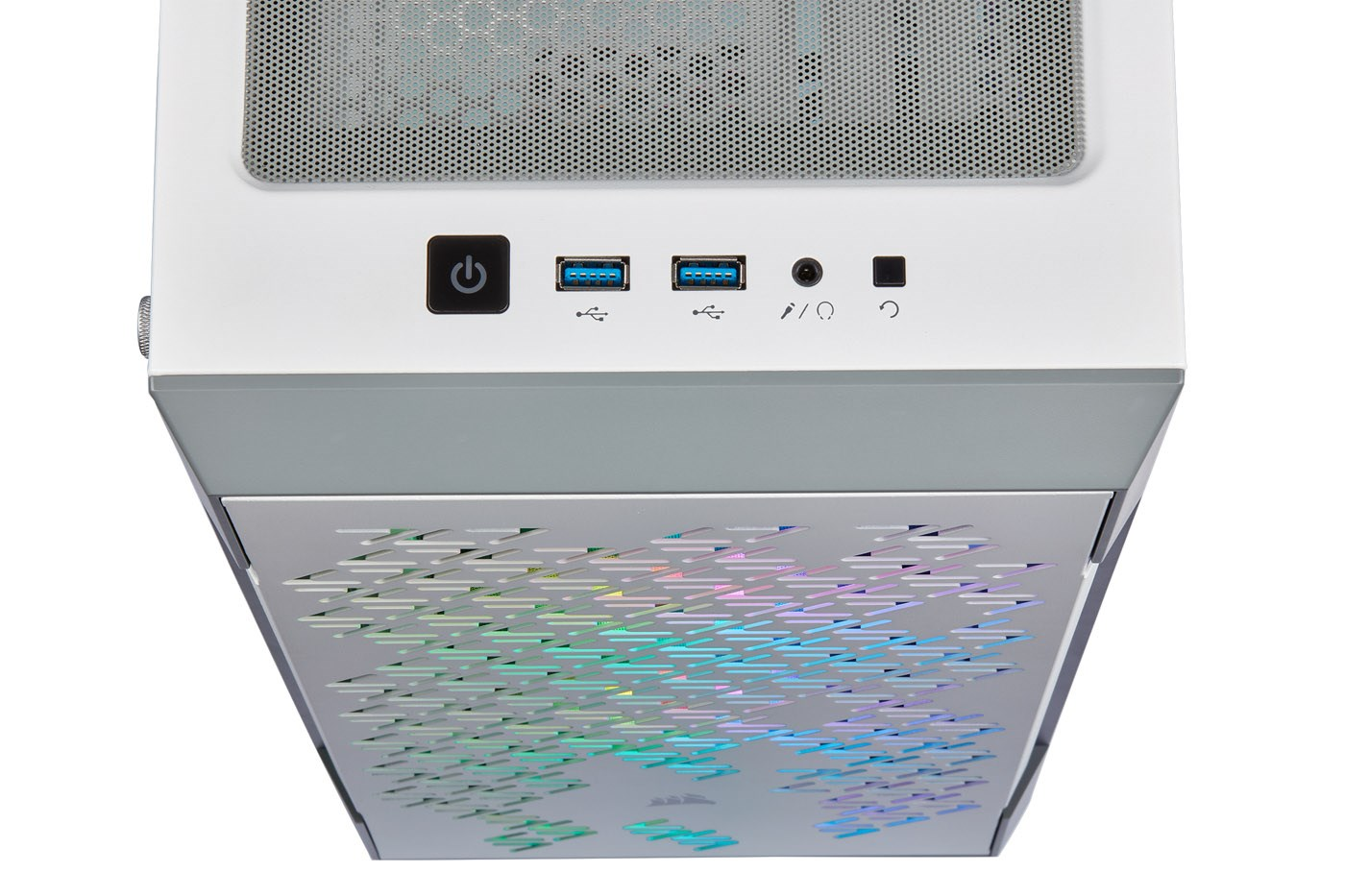 Corsair iCUE 220T RGB Airflow Gaming Case - White