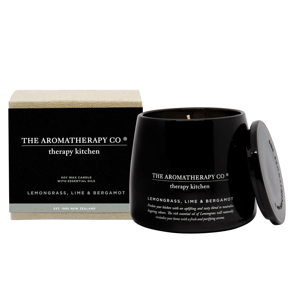 260g Therapy Kitchen Candle - Lemongrass, Lime & Bergamot