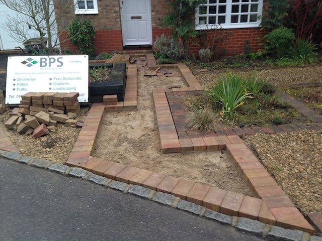 New driveway construction Sunbury-on-Thames