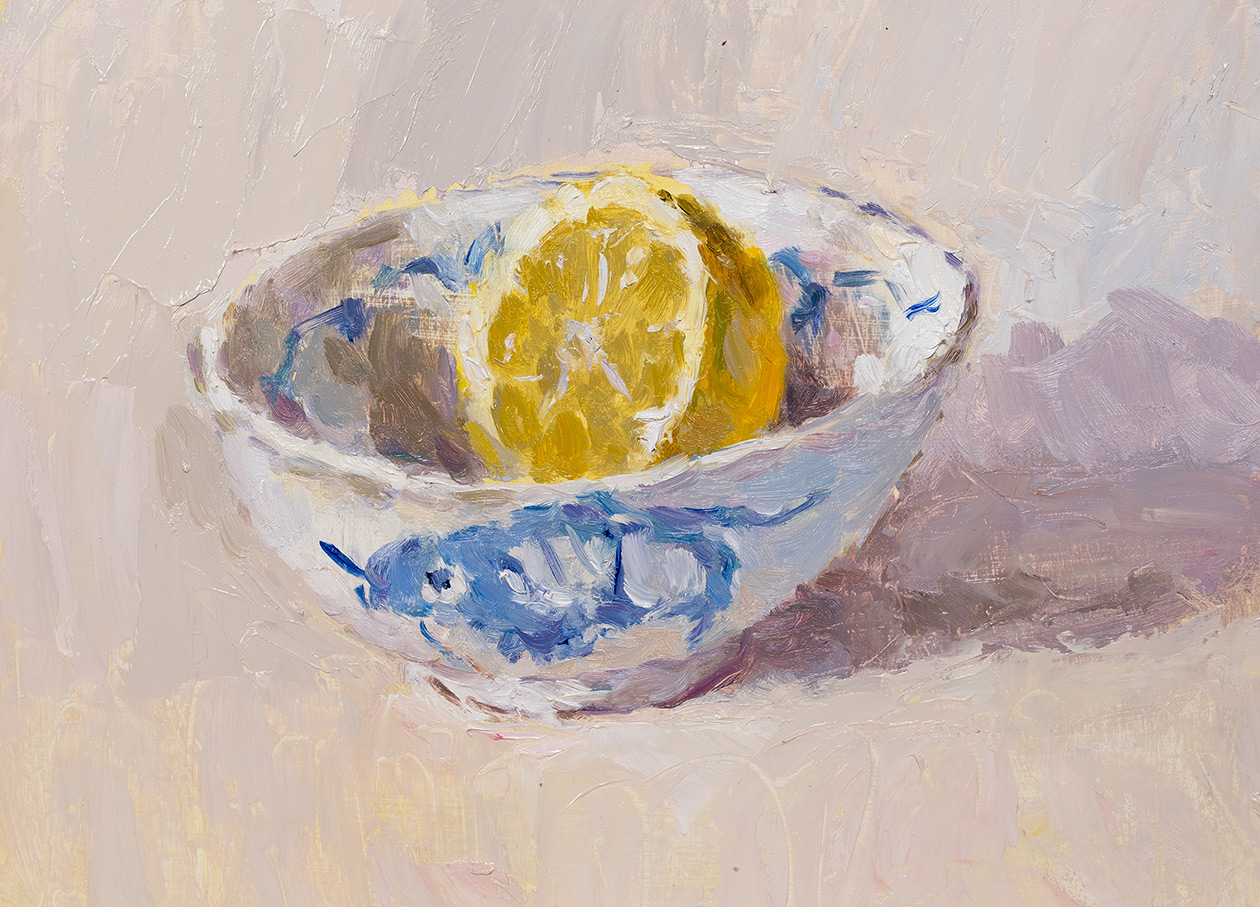 Lemon Half in a Chinese Bowl