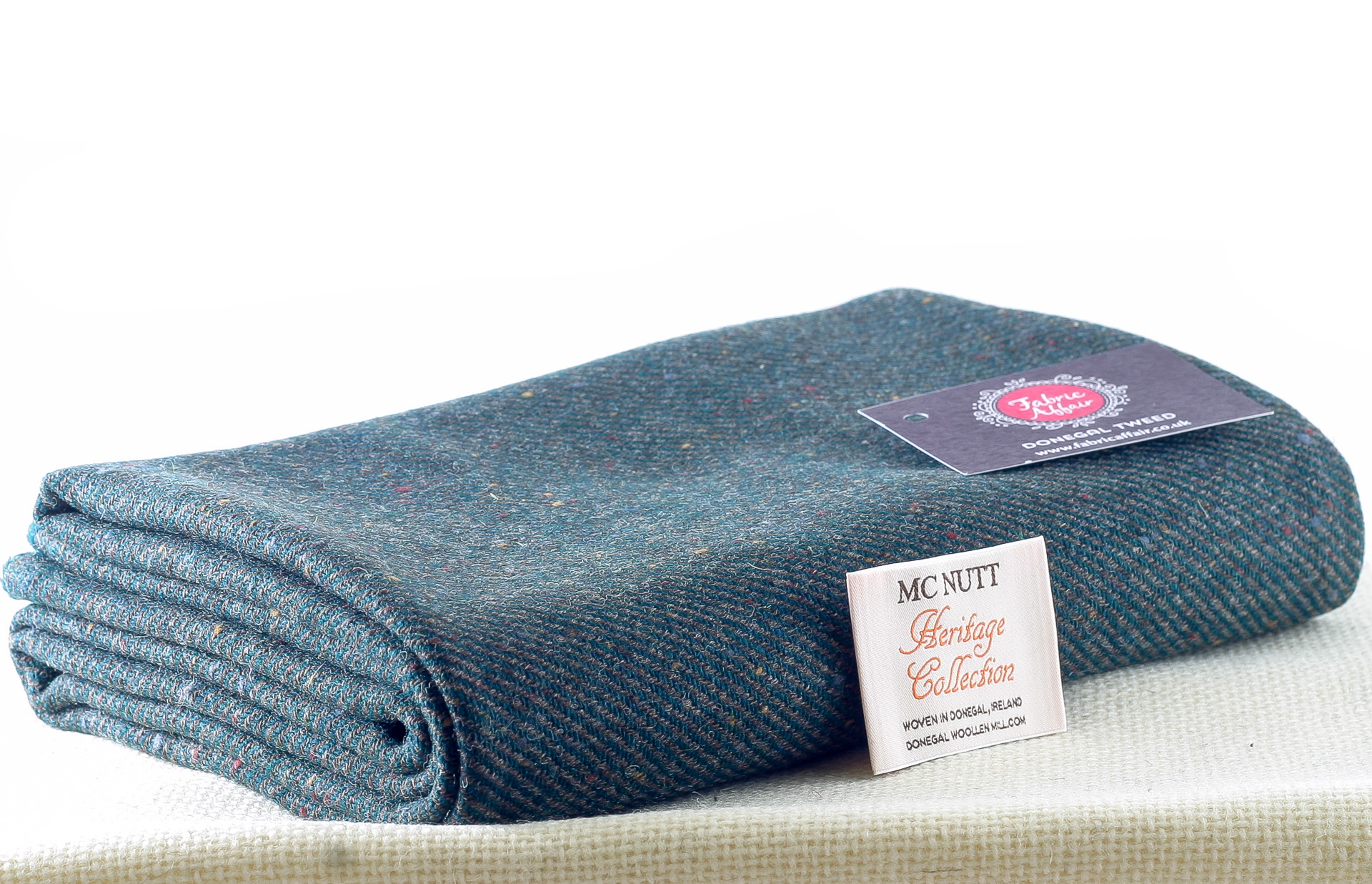 Donegal Tweed by Fabric Affair: Heritage Collection, Midnight Sky Twill.