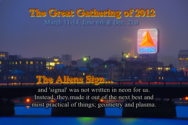 The Aliens Sign wasn't a 'neon' one