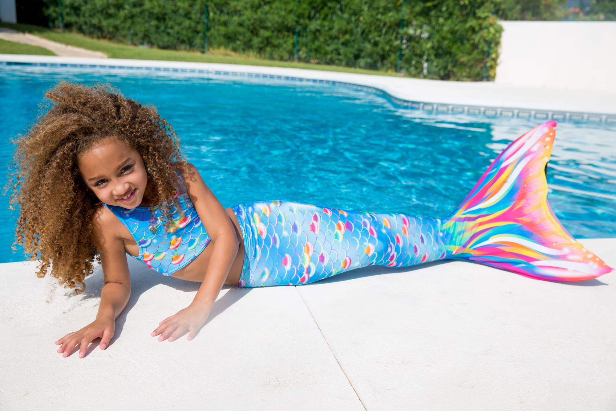 Pacific Rainbow Mermaid Tail from Planet Mermaid UK