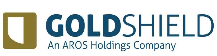 Logo of Goldshield, an Aros Holdings Company, who provide the 10-year warranty for our park homes