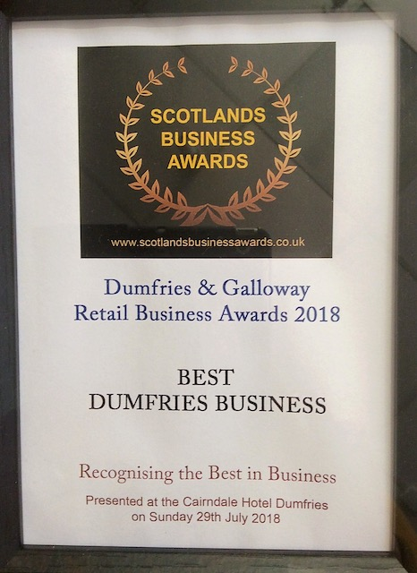 Pied Piper shoes Dumfries one the Best Dumfries Business in the Retails Business Awards 2018