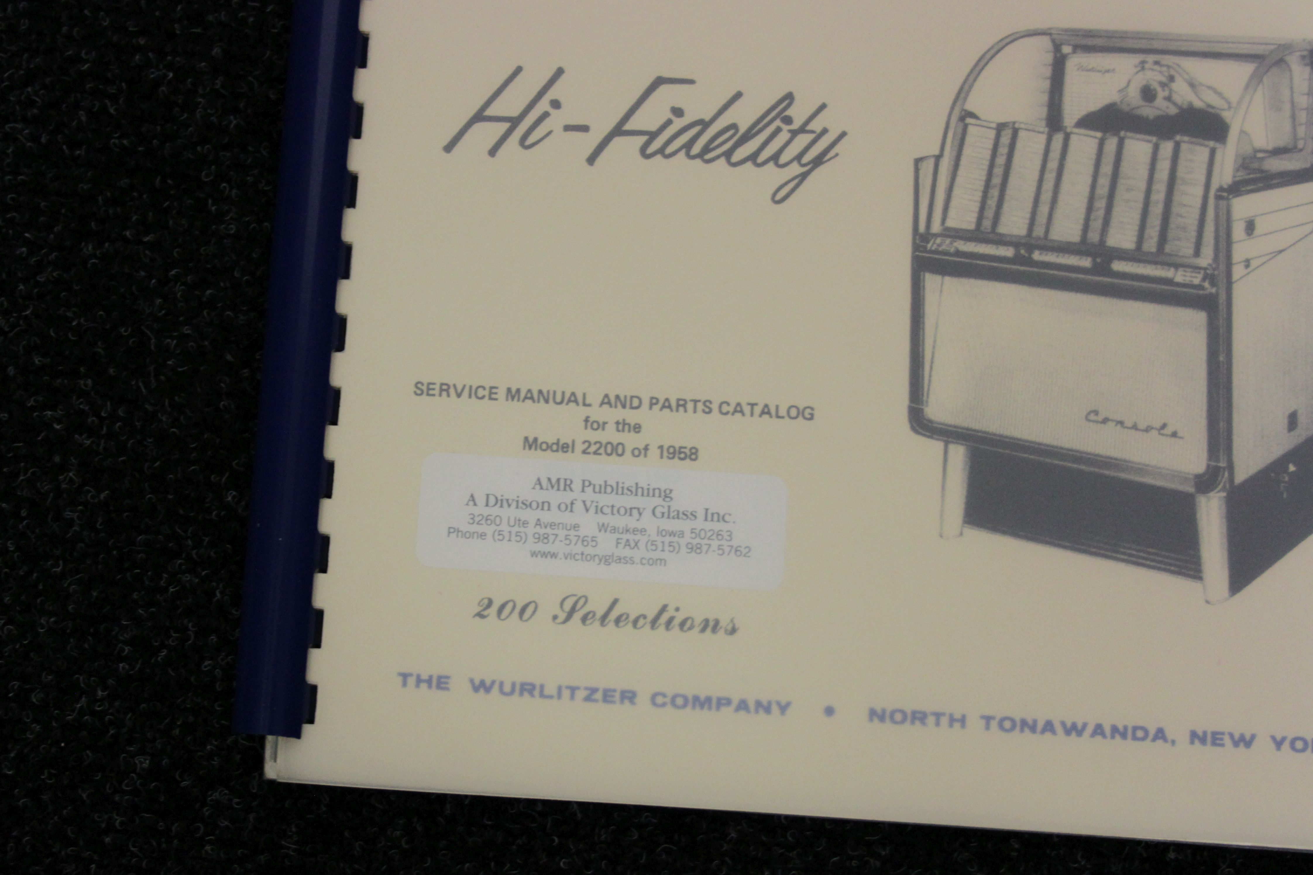 Wurlitzer Service Manual 2200